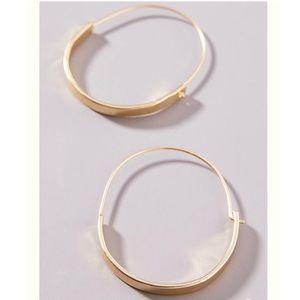 🍋2/$30 New Anthro Annelise Hoop Earrings